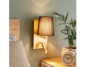 Applique Aiden à liseuse LED, noire, or