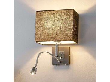Applique en tissu Rebekka, bras de lecture LED– LAMPENWELT.com