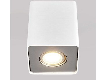 Downlight LED Giliano à 1 lampe, angulaire, blanc– LAMPENWELT.com