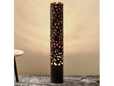 Lampadaire LED Coins effet flamme, noir– LAMPENWELT.com