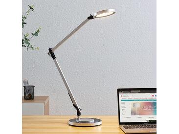 Lampe de bureau LED Rilana dimmable, argenté