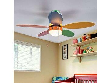 Ventilateur de plafond coloré Corinna avec lumière– LAMPENWELT.com