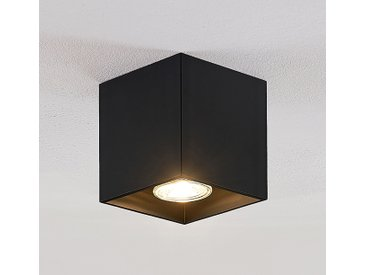 Lindby Parvin downlight aluminium, angulaire, noir