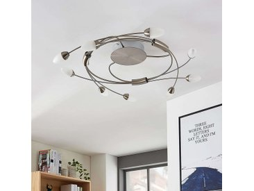 Plafonnier LED Deyan, dimmable, 9 lampes, rond– LAMPENWELT.com