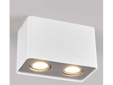 Downlight LED Giliano à 2 lampes angulaire, blanc– LAMPENWELT.com