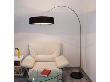 Lampadaire en tissu Shing à abat-jour noir– LAMPENWELT.com