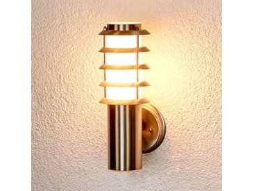 Magnifique applique extérieure Selina en inox– LAMPENWELT.com