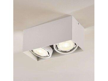 Downlight LED Rosalie à 2 lampes, angulaire, blanc– LAMPENWELT.com
