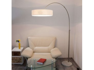 Lampadaire en tissu blanc Shing– LAMPENWELT.com