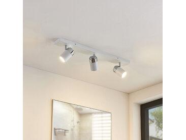 Plafonnier salle de bains à 3 lampes Kardo, blanc