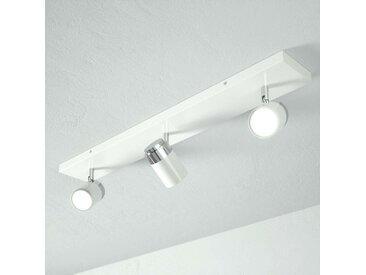 Plafonnier salle de bains à 3 lampes Kardo, blanc– LAMPENWELT.com