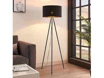 Lampadaire Folke en tissu à trois pieds, noir– LAMPENWELT.com