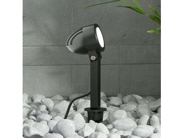 Projecteur ext. LED Timko avec piquet, IP65, noir– LAMPENWELT.com