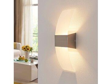 Applique LED décorative Harry, nickel mat