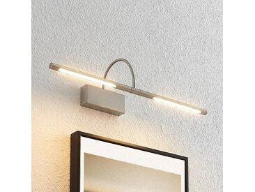 Lucande Fehmke applique pour tableau LED, nickel