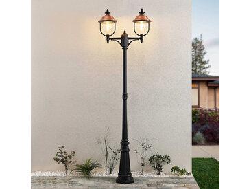 Lindby Clint lampadaire d'extérieur, à 2 lampes