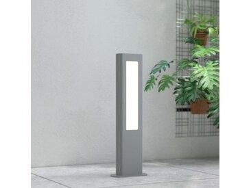 Potelet LED Mhairi, carré, gris foncé, 50cm– LAMPENWELT.com