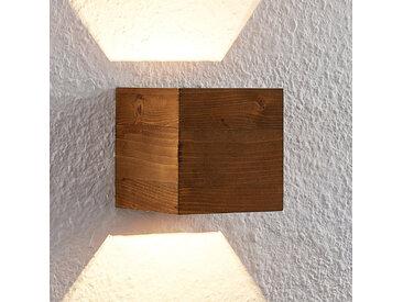Lindby Benicio applique LED bois, angulaire, 11cm