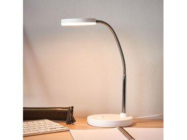 Lampe de bureau LED blanche Milow