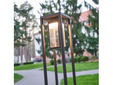 Borne lumineuse LED Ferdinand moderne, gris foncé– LAMPENWELT.com