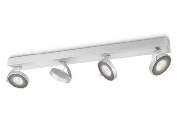Plafonnier LED Clockwork de couleur aluminium