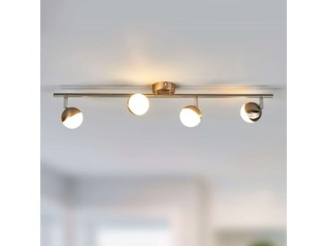 Discret plafonnier LED Jonne, nickel mat– LAMPENWELT.com