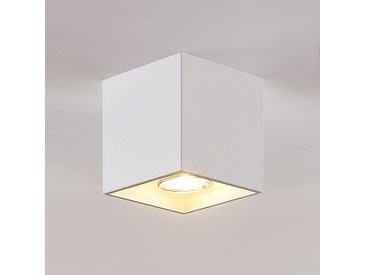 Lindby Parvin downlight alu, angulaire, blanc