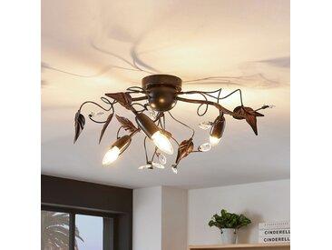 Plafonnier Marlitt, bras courbés, à 3 lampes– LAMPENWELT.com