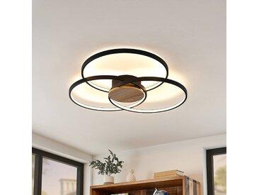 Lindby Riley plafonnier LED, dimmable, noir