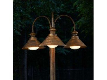 Lampadaire d'extérieur Millane à 3 lampes– LAMPENWELT.com