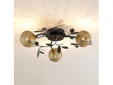 Lucande Evory plafonnier, rond, 3 lampes