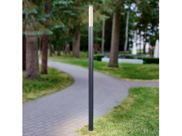 Lampadaire d'extérieur LED Sidny élancé et moderne– LAMPENWELT.com