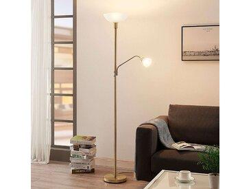 Lampadaire LED Jost , lampe de lecture, laiton mat– LAMPENWELT.com