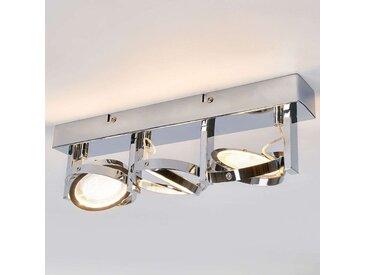 Plafonnier LED chromé Lionel– LAMPENWELT.com