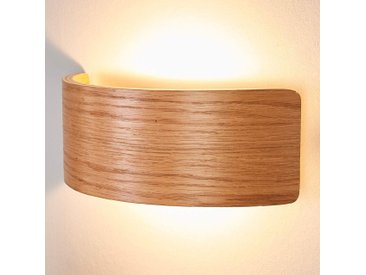 Applique murale LED bois Rafailia, aspect naturel– LAMPENWELT.com