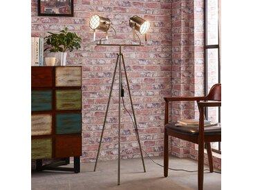 Lampadaire Ebbi métallique à 2 lampes