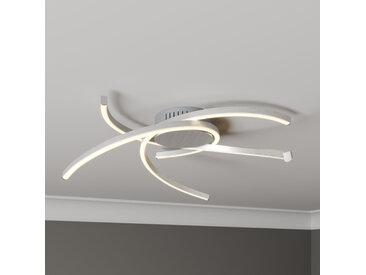 Lindby Katris plafonnier LED, 58cm, aluminium