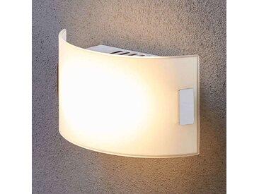 Applique en verre blanche Gisela avec LED– LAMPENWELT.com