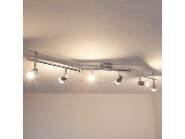 Plafonnier chromé LED Arminius à 6 lampes– LAMPENWELT.com