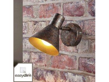Applique murale LED rouille Zera, intérieur doré– LAMPENWELT.com