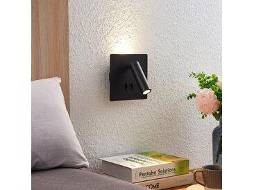 Lucande Magya Applique LED noire à 2 lampes carrée