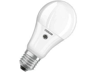 Ampoule LED E27 11W, blanc chaud, capteur lumière
