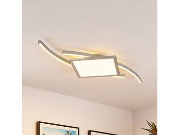 Lucande Tiaro plafonnier LED, angulaire, 42,5cm