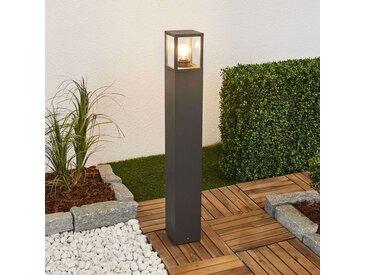 Borne lumineuse Klemens, gris graphite, 90cm– LAMPENWELT.com