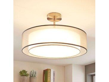 Plafonnier LED Pikka, dimmable 3 niveaux, gris– LAMPENWELT.com