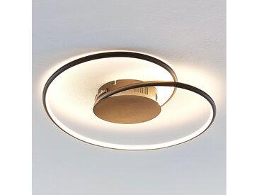 Lindby Joline plafonnier LED, noir, 45cm