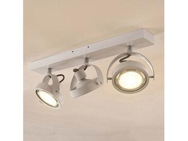 Spot LED Munin, dimmable, blanc, 3 lampes