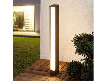 Borne lumineuse LED carrée Holly en gris graphite– LAMPENWELT.com