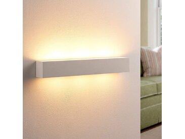 Tjada - Applique murale LED longitudinale plâtre– LAMPENWELT.com