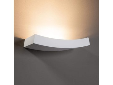 Applique légèrement courbée Leander à peindre– LAMPENWELT.com